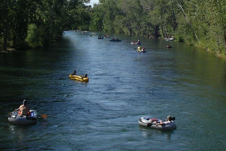 Float the river in Boise, Idaho.