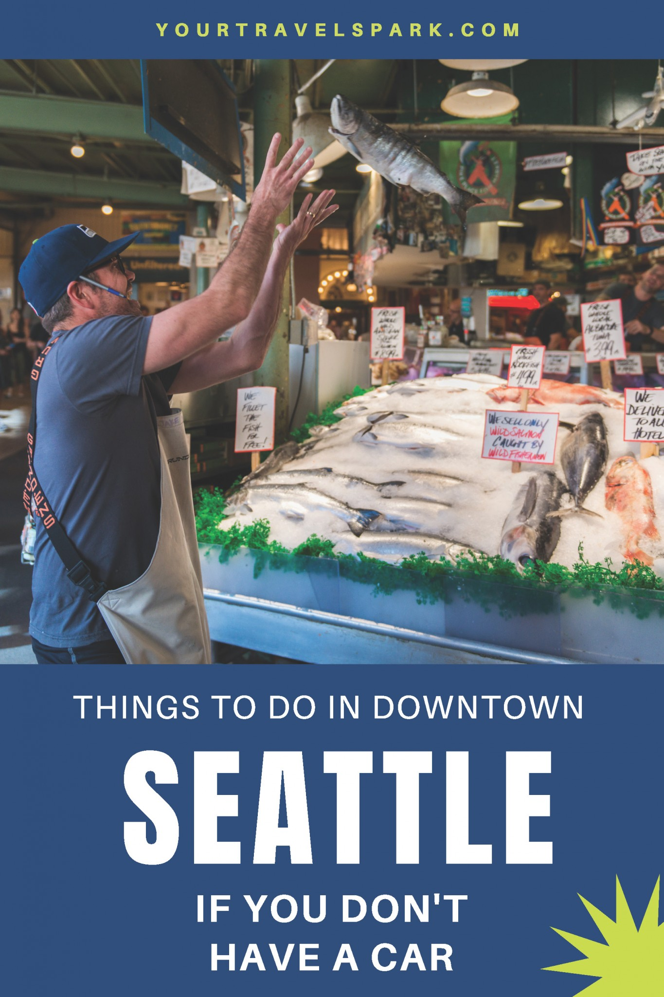 Seattle, Washington is a beautiful and fun destination. If you are in the city, here are our favorite things to do in downtown Seattle without a car. #seattle #downtownseattle #seattlewa #seattlewashington #washington #pikeplacemarket #pikeplace #pikesplace #unionbay