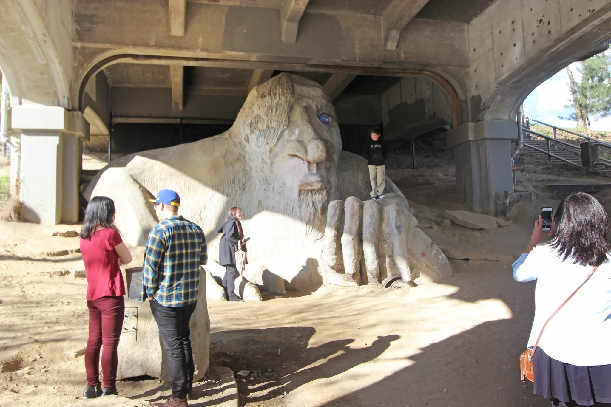 The Fremont Troll in Seattle, Washington.