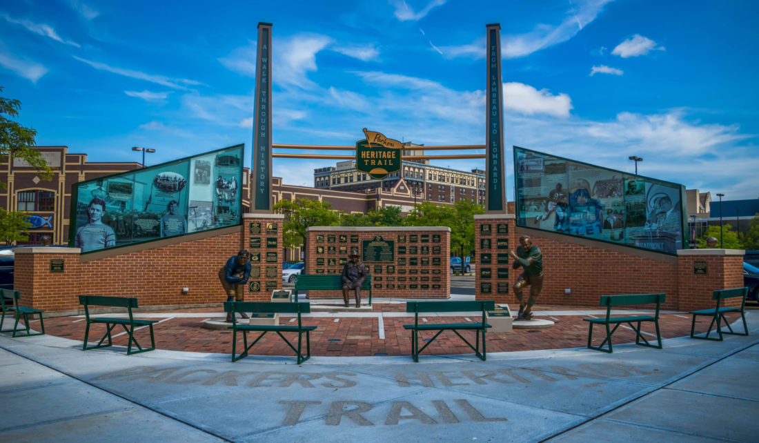 Packers Heritage Trail in Green Bay, Wisconsin.
