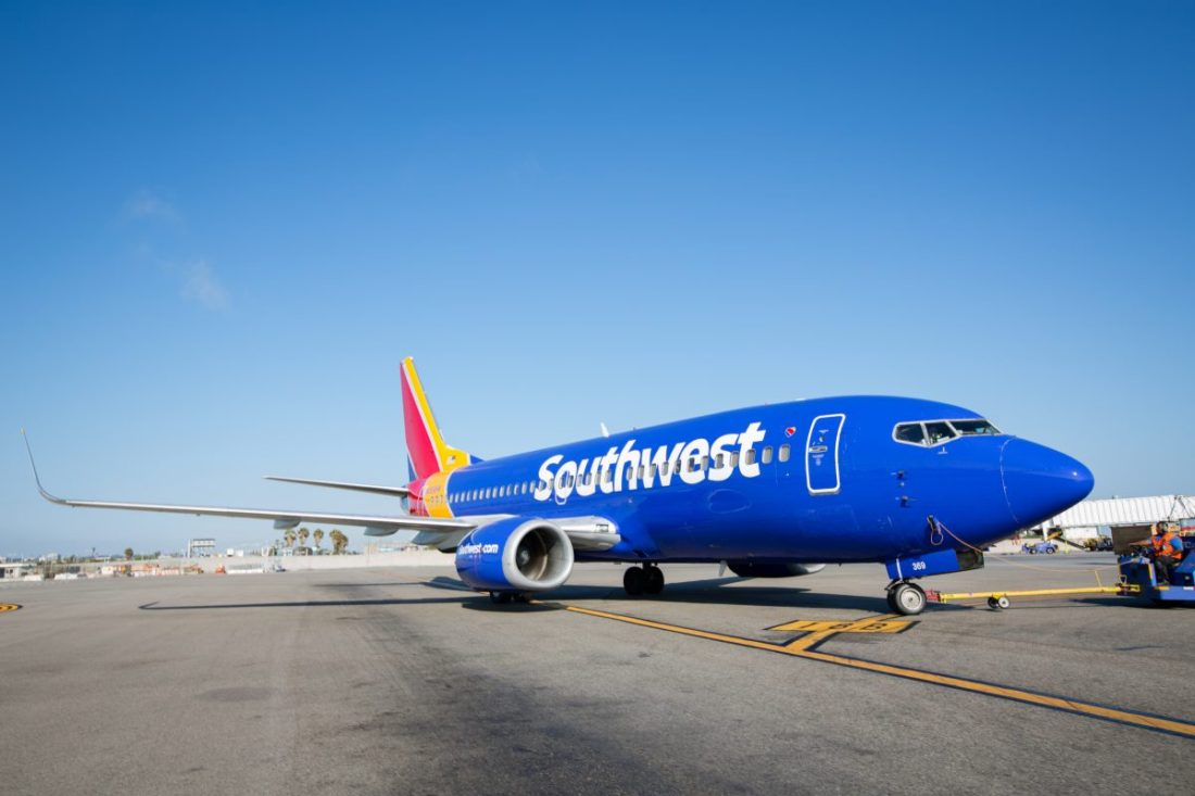 Southwest Airlines Airplane Airline Travel