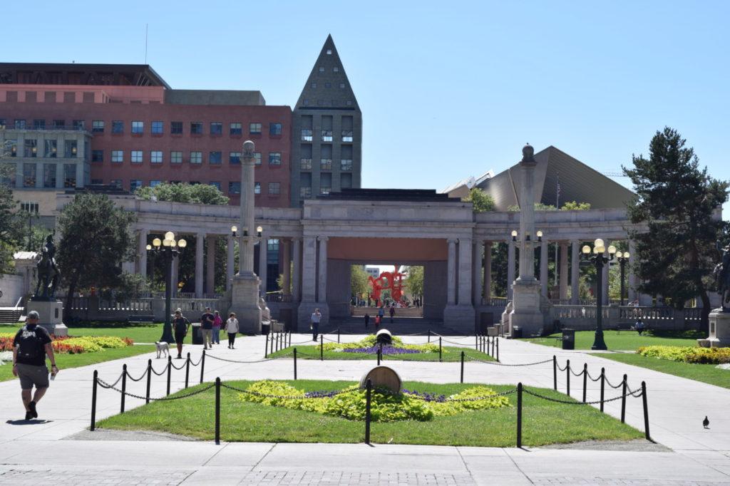 Civic Center Park in Downtown Denver Colorado.