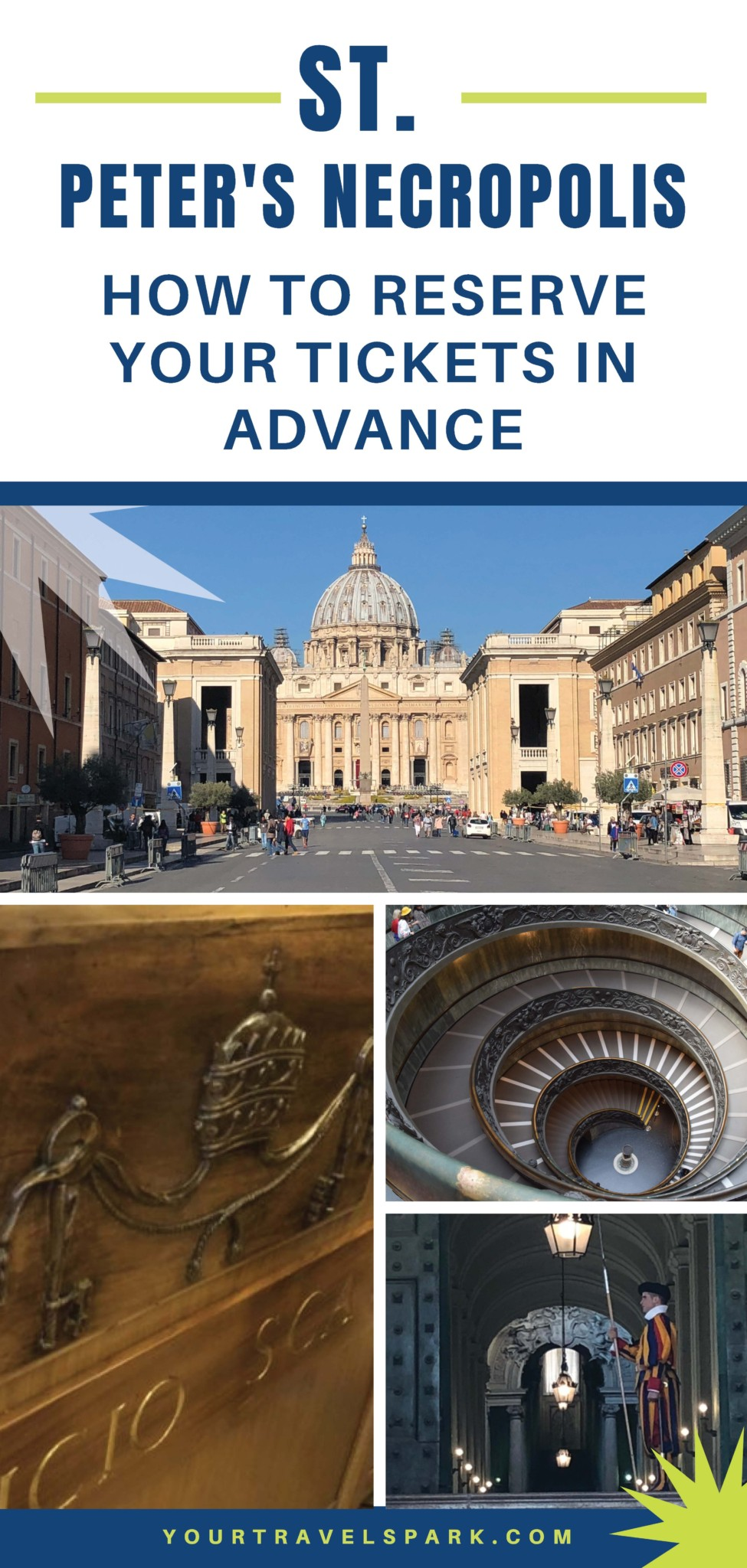 Visiting St. Peter's Tomb or St. Peter's Necropolis at the Vatican is a unique experience very few people get to experience. Here is how to reserve your tickets for the Vatican Scavi Tour when in Rome, Italy.