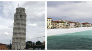 Visiting the Leaning Tower of Pisa and Marina di Pisa beach in Italy