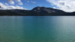 Paulina Lake & Newberry Volcano Caldera hike and campground.