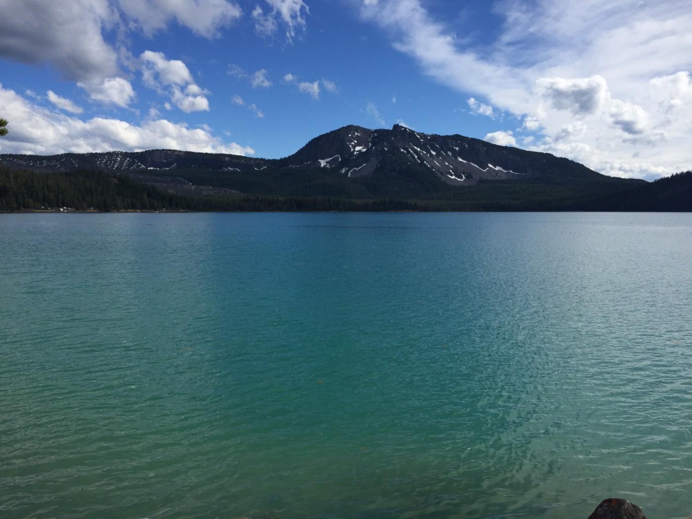 Paulina Lake & Newberry Volcano Caldera hike and campground.