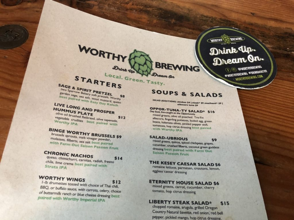 Worthy Brewing - Top Breweries in Bend, Oregon.