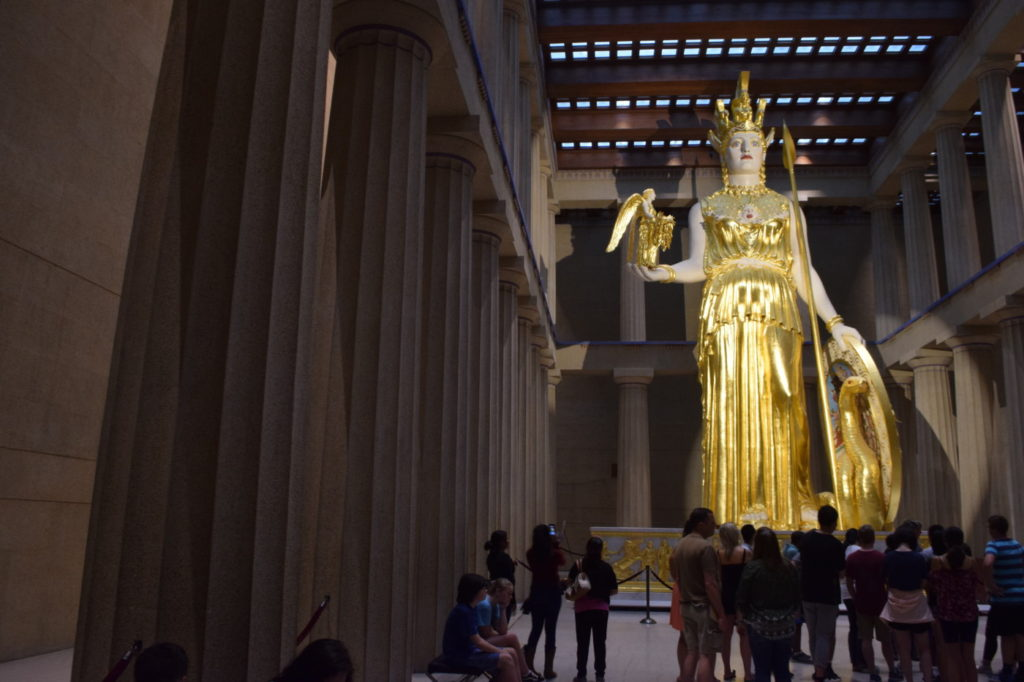 Nashville, Tennessee Parthenon and replica Athena statue.