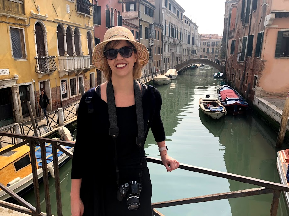 Jaclyn Brandt of YourTravelSpark.com in Venice, Italy.