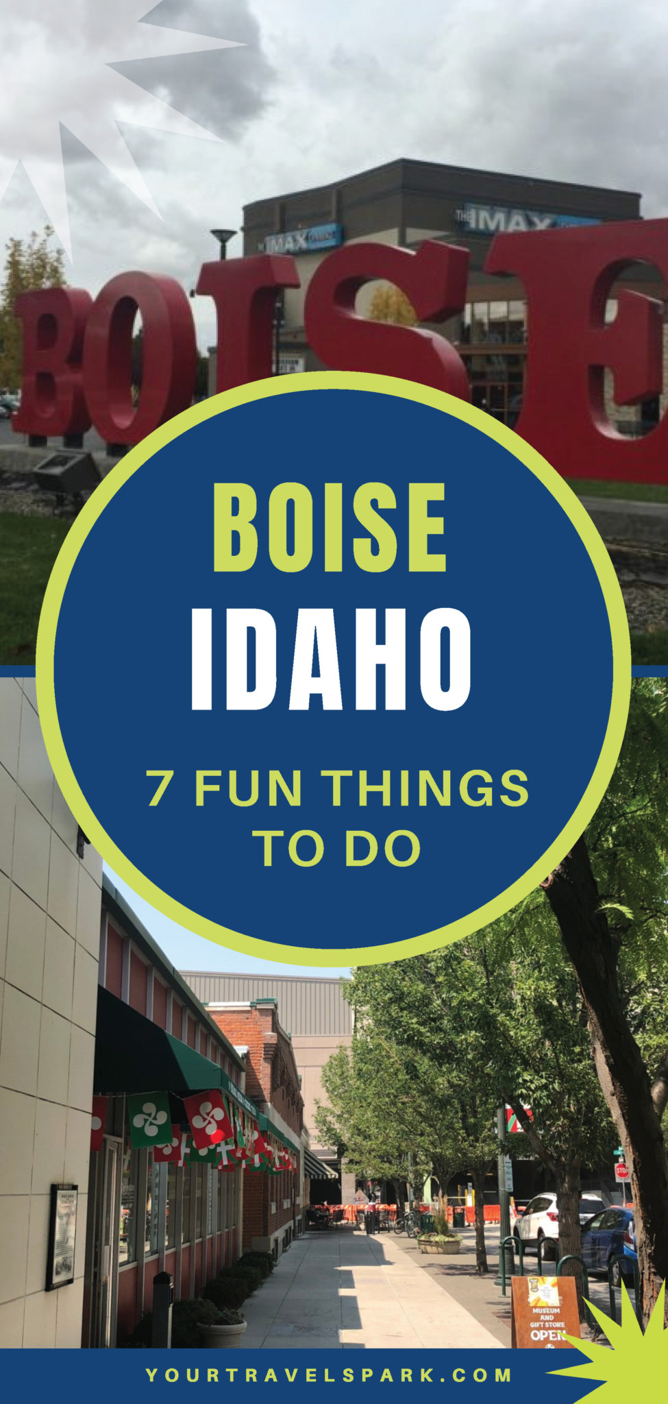 Boise, Idaho is becoming a great destination to visit - whether it be for skiing, breweries, or nightlife. Here are our favorite places to stay and things to do in Boise, Idaho. #boise #idaho #boiseidaho #boiseid #potatoes #placestostay #placestostayinboise #lesbois #cityoftrees #basque #basqueblock