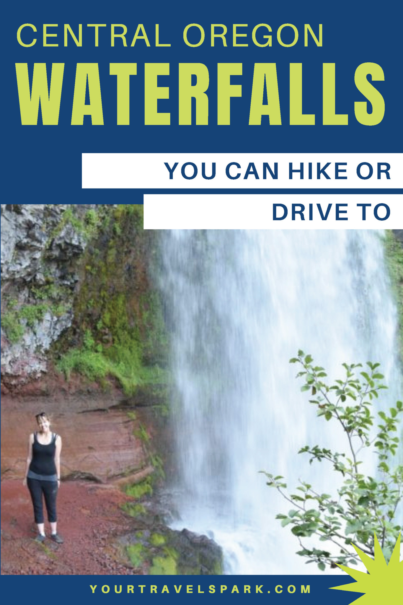 There are so many Central Oregon waterfalls (near Bend, Oregon) to visit while in the area — and many you can hike or even drive to. Here are our favorites! #waterfalls #centraloregon #bendoregon #oregon #oregonwaterfalls #bendoregonwaterfalls