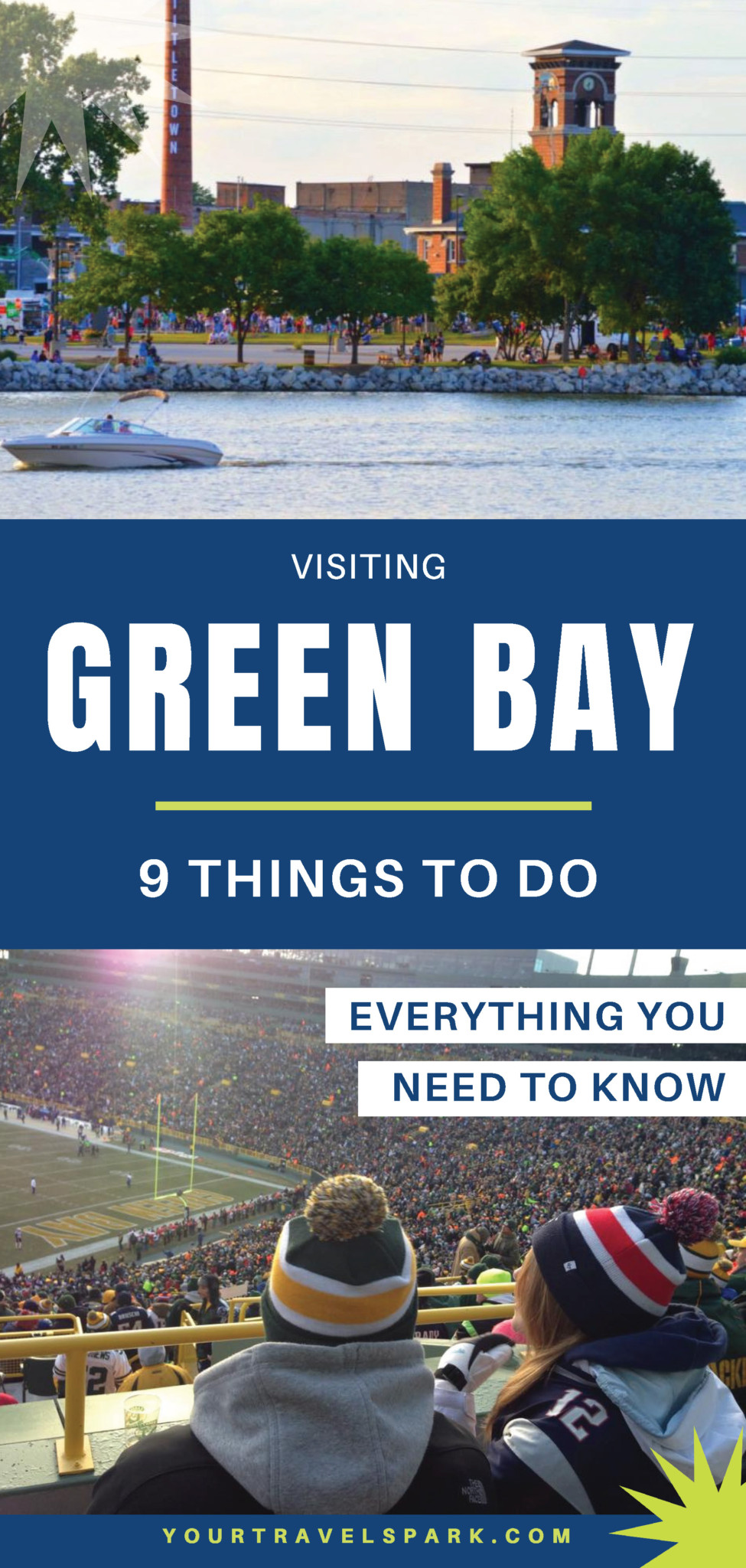 Visiting the new Titletown District in Green Bay, Wisconsin — the new district near Lambeau Field by the Green Bay Packers, and the things to do in Green Bay, Wisconsin. #greenbaypackers #greenbay #packers #greenbay #greenbaywi #greenbaywisconsin #titletown #titletowndistrict #titletowndistrictgreenbay #gopackgo #lambeau #lambeaufield #arienshills #ariens