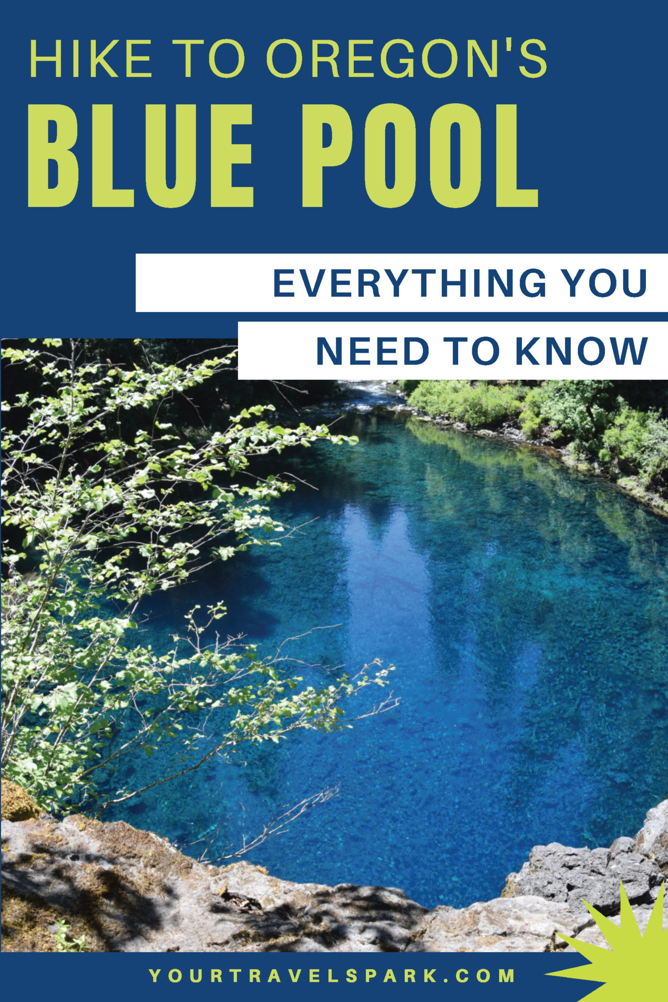 Tamolitch Blue Pool in Oregon is a beautiful destination and easy hike. If you are in Central Oregon or Bend, Oregon, here are our tips on how to get there and how to hike in to the Blue Pool on the McKenzie River Highway. #bluepool #tamolitch #tamolitchbluepool #hikes #hike #hiking #oregon #bendoregon #centraloregon #oregonhiking #oregonhikes #mckenzieriver