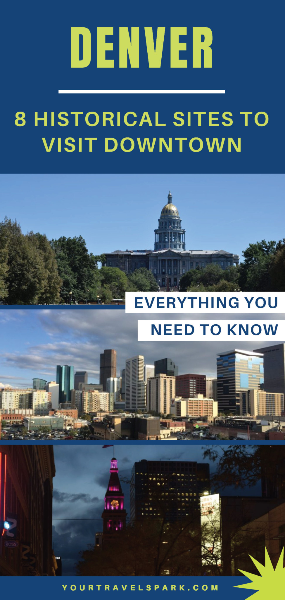 Downtown Denver, Colorado is a beautiful place - here are some historical sites to visit in Denver, Co. #denver #denverco #denvercolorado #colorado #co #historicalsites #historicsites #history #sites #historicbuildings #denverhistory #coors #coloradohistory