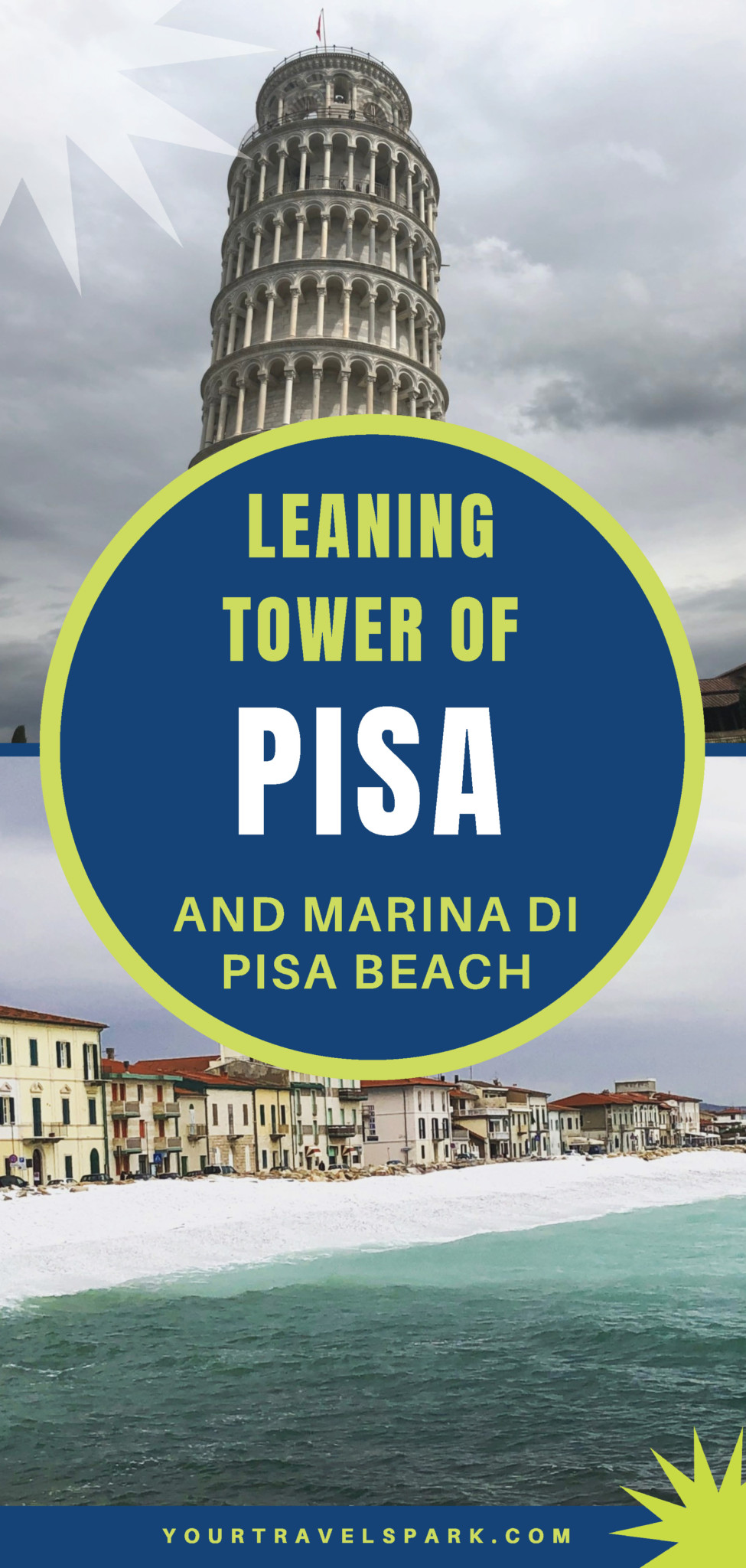 Visit the Leaning Tower of Pisa and Marina di Pisa Beach, including directions from Florence to Pisa and through Tuscany, Italy. #italy #tuscany #pisa #leaningtower #leaningtowerofpisa #marinadipisa #mediterranean #italia #pisaitaly #florence #florenceitaly #tuscanyitaly #florencetopisa