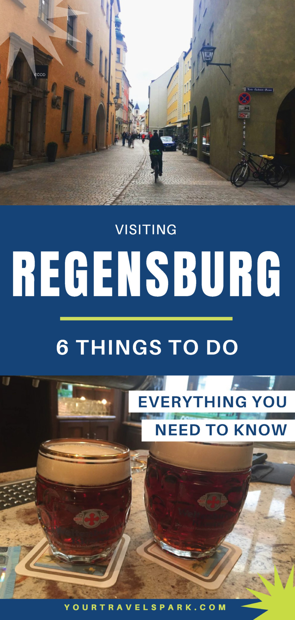 Regensburg, Germany is a beautiful destination for any European adventure. There are Roman ruins and Bavarian history. Here are our top things to do in Regensburg. #regensburg #regensburggermany #germany #bavaria