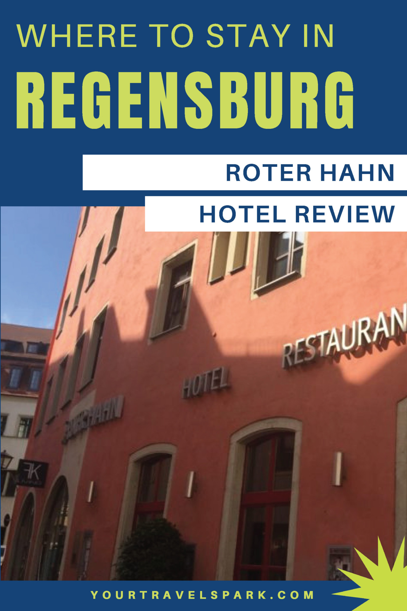 Regensburg, Germany is a beautiful destination for any European adventure. There are Roman ruins and Bavarian history. Here is our review of our favorite hotel in Regensburg; Roter Hahn. #regensburg #regensburggermany #germany #bavaria #roterhahn