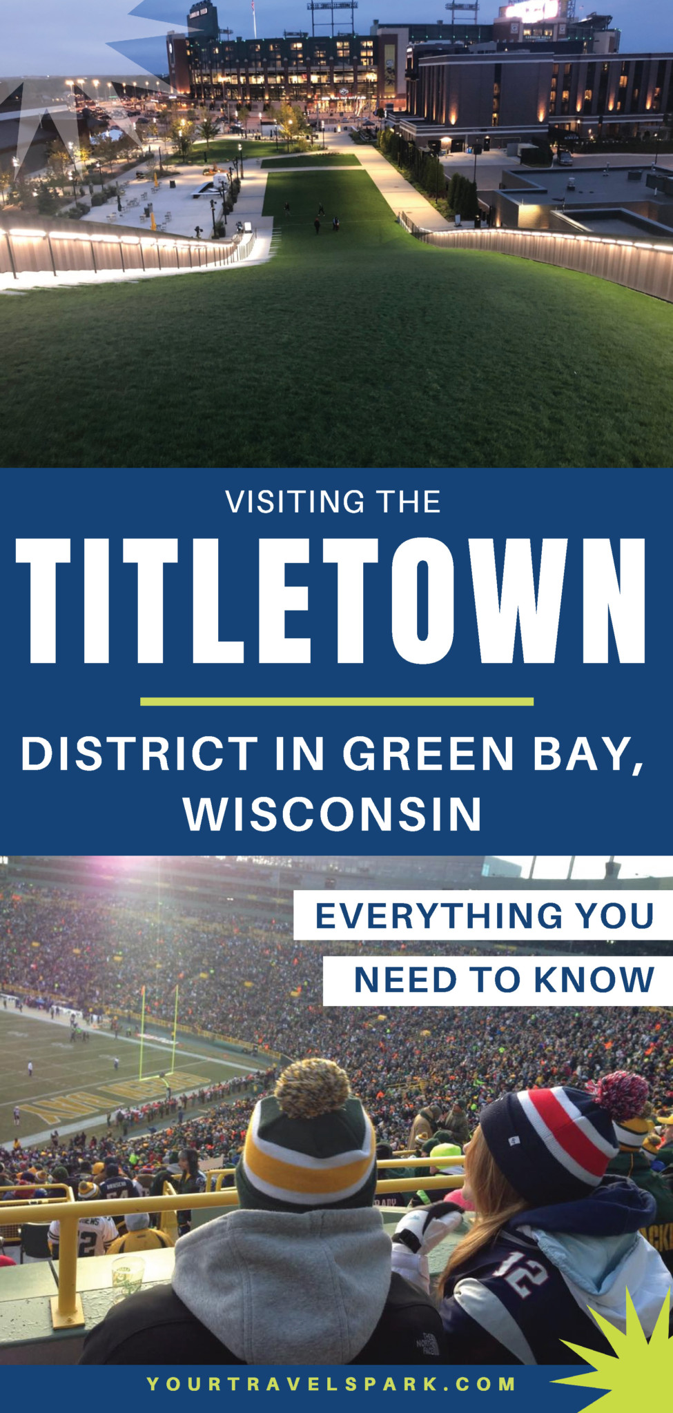 Visiting the new Titletown District in Green Bay, Wisconsin — the new district near Lambeau Field by the Green Bay Packers. #greenbaypackers #greenbay #packers #greenbay #greenbaywi #greenbaywisconsin #titletown #titletowndistrict #titletowndistrictgreenbay #gopackgo #lambeau #lambeaufield #arienshills #ariens