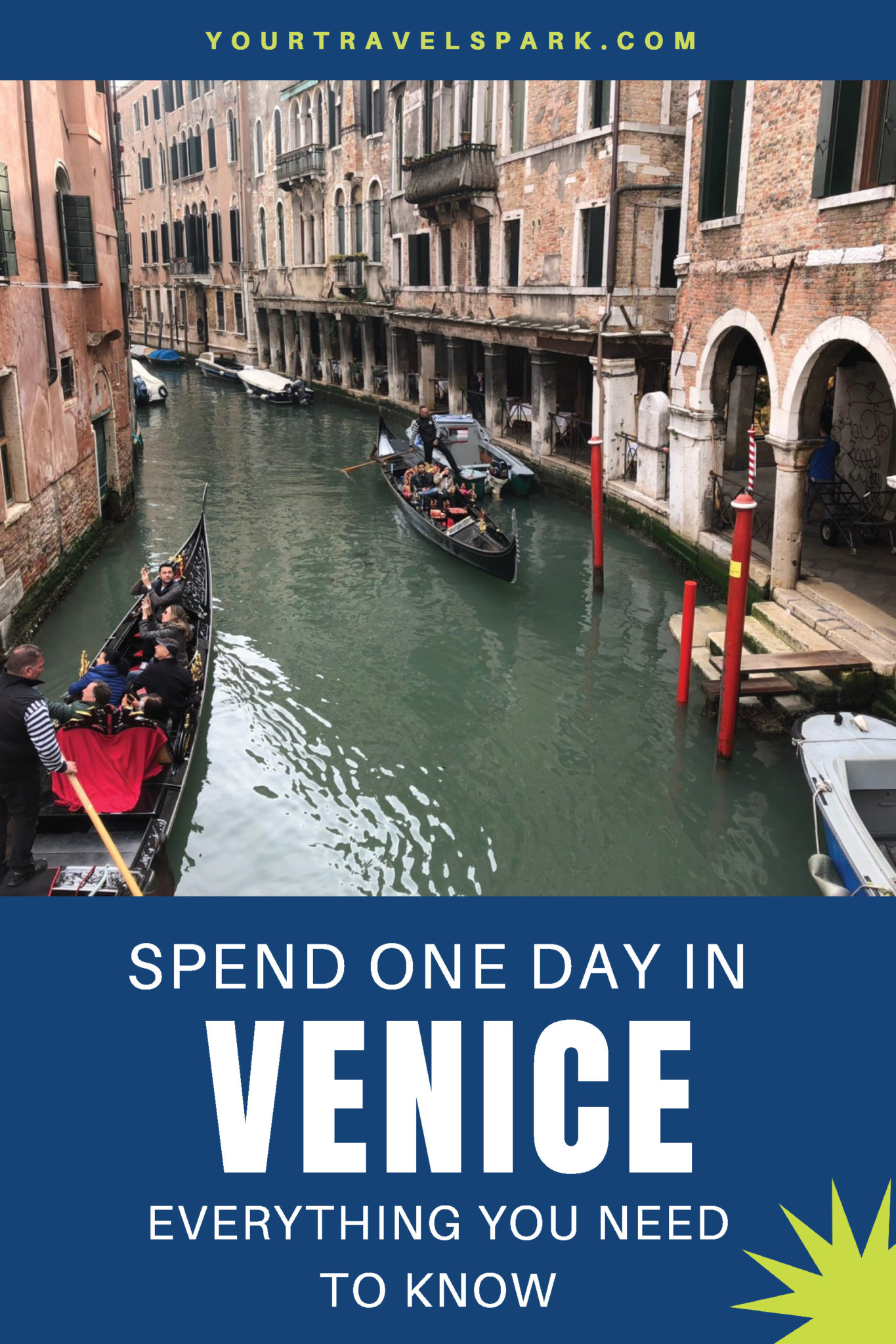 Venice, Italy is a beautiful destination. Here are our favorite things to do if you have one day in Venice. #venice #veniceitaly #venezia #italia #thingstodoinvenice #stmarks #grandcanal