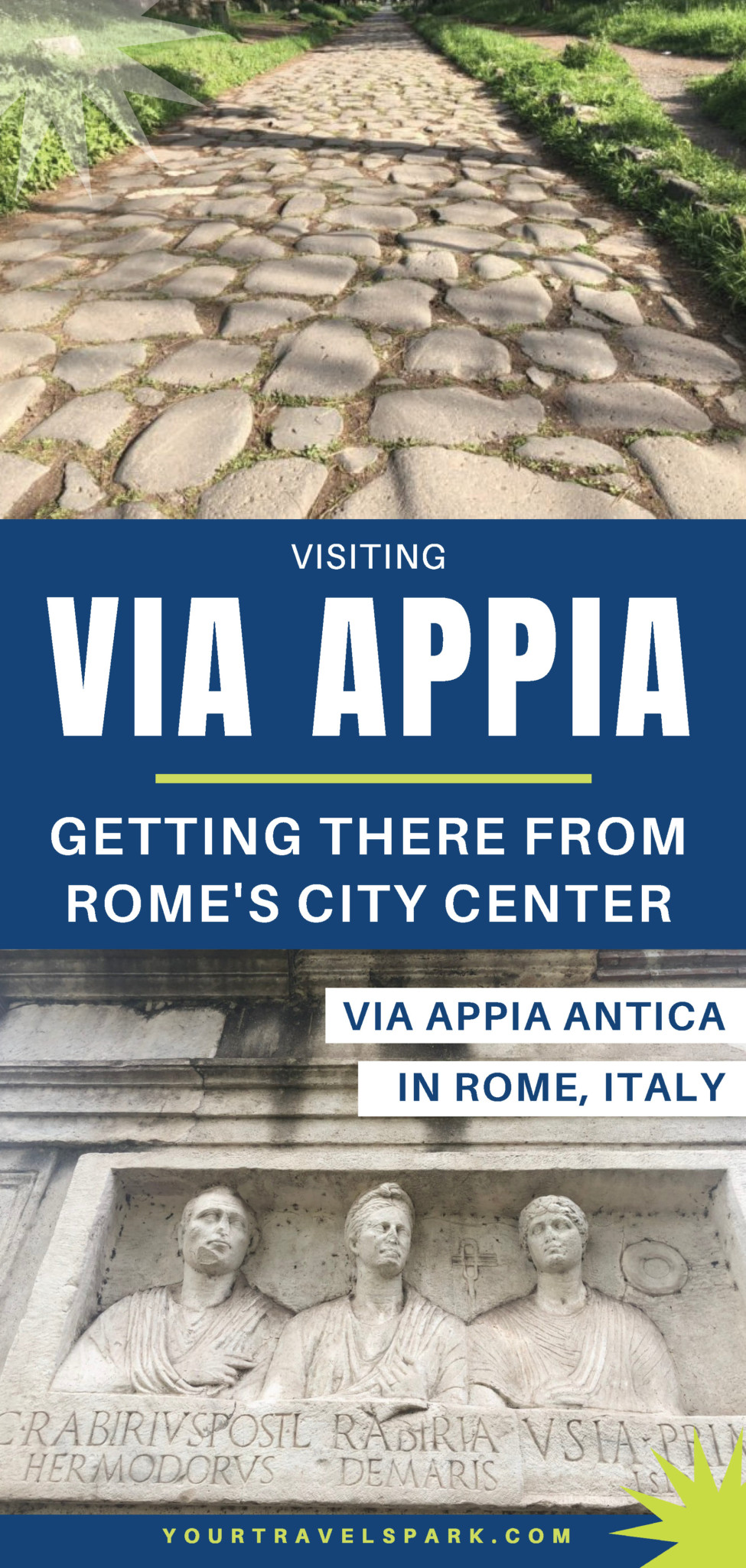 The Appian Way is an important piece of Roman history. Here are our tips on how to get to Via Appia Antica from Rome Italy's city center. #viaappia #viaappiaantica #appianway #theappianway #rome #romeitaly #roma #romaitaly #romaitalia #italia