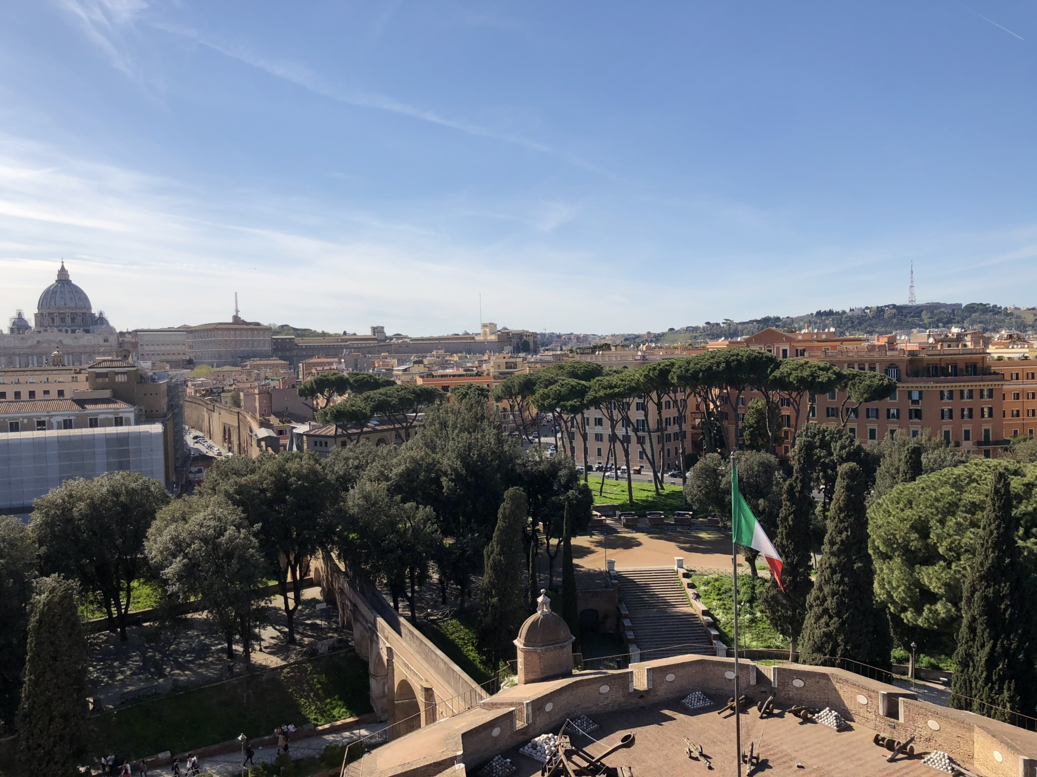 View of Vatican City from Castel Sant'Angelo in Rome, Italy.