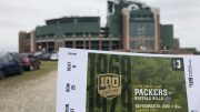 The Green Bay Packers' Titletown District in Green Bay, Wisconsin.