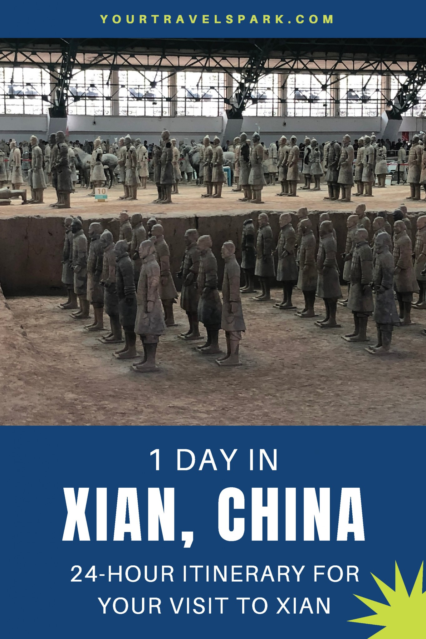 One day in Xian, China, including the Xian Muslim Market, Terracotta Soldiers, the Xian City Wall, and everything else you need to know if you're visiting Xian, China. #xian #xianchina #china #visitxian #visitingxian #visitxianchina #visitingxianchina #visitchina #visitingchina #terracottasoldiers #terracottawarriors #muslimmarket #xianmuslimmarket #xiancitywall #citywall #bikingthexiancitywall