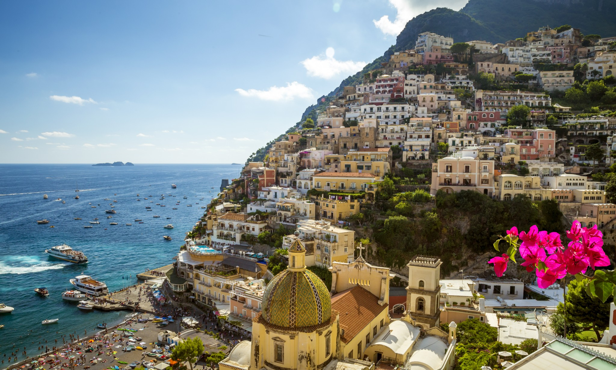 Fly direct from the United States to the Amalfi Coast, Italy